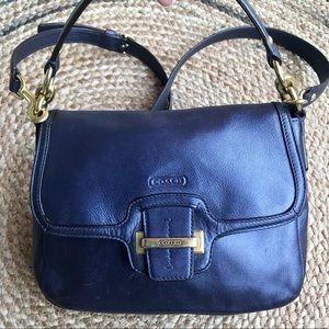 Coach Taylor Flap Pearlized Navy blue mini purse